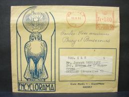LetDoc. 62. Oblitération Mécanique  0.80 Fr Hasselt 1963. Entête Encyclorama. - België