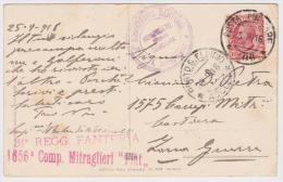 ITALY 1918 (25.9.) ART PC MILITARY MAIL CENSORED TO PORTO S. ELPIDIO (Ascoli) - Militärpost (MP)