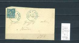Lettre Cachet Convoyeur Anvin à Arras En Bleu - Postmark Collection (Covers)