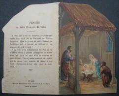 IMAGE PIEUSE Canivet Chromo Avec Texte Vers 1930 : NOEL LA CRECHE DE BETHLEEM / CHRISTMAS HOLY CARD SANTINO - Images Religieuses