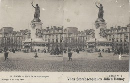 Vue Stéréoscopique Julien DAMOY/Paris/Place De La République/Série1 /France/ Vers 1900   STE73 - Stereo-Photographie