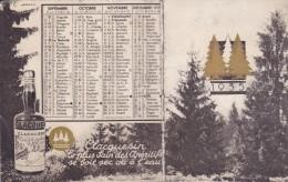 CALENDRIER PUBLICITAIRE CLACQUESIN -ANNEE 1935 -PETIT FORMAT - Calendars