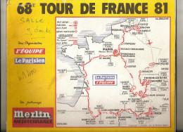 TOUR DE FRANCE  1981 - Road Book 92 Pages - Format 28  X 23  . ( + Port ) - Cycling