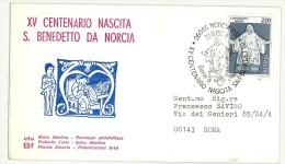 ITALIA FDC CFU - BF  - XV CENTENARIO NASCITA SAN BENEDETTO DA NORCIA  - ANNO 1980 - FDC