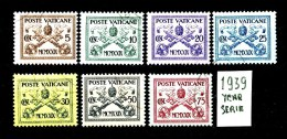 VATICANO - Sede Vacante - Year 1939 - Serie Completa - Viaggiata - Traveled -voyagè -gereist. - Usati