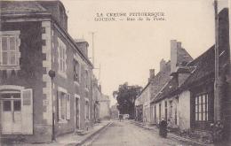 Cpa-23-gouzon -rue De La Poste-personnages- - France