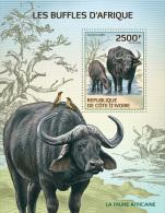 ic14101b Ivory Coast 2014 Buffalo s/s