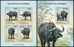 ic14101ab Ivory Coast 2014 Buffalo 2 s/s
