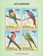 ic14103a Ivory Coast 2014 Birds Bee-eaters s/s