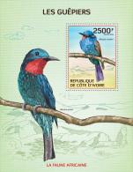 ic14103b Ivory Coast 2014 Birds Bee-eaters s/s