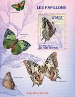 ic14104b Ivory Coast 2014 Butterflies s/s