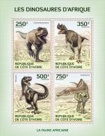 ic14106a Ivory Coast 2014 Dinosaurs s/s