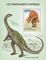 ic14106b Ivory Coast 2014 Dinosaurs s/s