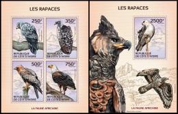 ic14112ab Ivory Coast 2014 Raptors Eagle 2 s/s
