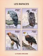 ic14112a Ivory Coast 2014 Raptors Eagle s/s