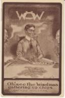 Men Play Cards Gamble, World Organization Of Woodsmen Organization Theme C1900s Vintage Postcard - Playing Cards