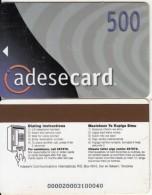 TANZANIA - Adesemi Telecard TSHS 500(blue Corner, Reverse 4), Used