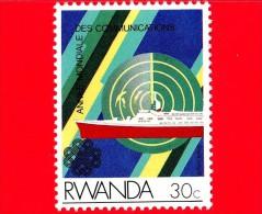 RWANDA  - 1984 - Anno Mondiale Delle Comunicazioni - Nave - Ship - Radar - 30 - Rwanda