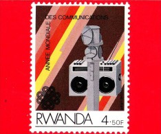 RWANDA  - 1984 - Anno Mondiale Delle Comunicazioni - Radio - 4.50 - Rwanda