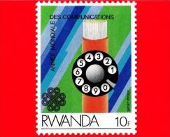 RWANDA  - 1984 - Anno Mondiale Delle Comunicazioni - Telefono - 10 - Rwanda