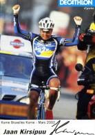 "SPORTS / CYCLISME     ""  EQUIPE  AG2R  2002      "" JAAN  KIRSIPUU ""     CPSM  10 X 15 DOS BLANC - Cyclisme"