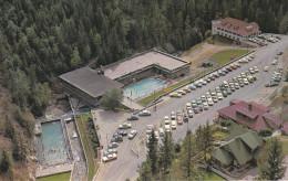 Aerial View, Swimming Pool, Classic Cars, Aquacourt, RADIUM HOT SPRINGS, British Columbia, Canada, 40-60's - British Columbia