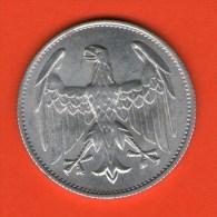 ALEMANIA GERMANY DEUTSCHLAND   - Weimar  3 Mark 1922 A    Alu  KM28  J302 - 3 Marcos & 3 Reichsmark