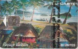 WALLIS Et FUTUNA - FALE Paysage Wallisien, Chip SC5, Tirage 3000, 11/92, Mint - Wallis And Futuna