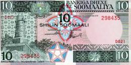 Banconota Da 10 Scellini Della Somalia - Somalia