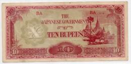 Banconota Birmania 10 Rupie SPL Occupazione Giapponese - 1942-1944 - Somalia