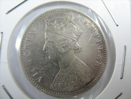 INDIA 1 ONE RUPEE 1901 SILVER VICTORIA NICE GRADE . LOT 3 N 4 - India