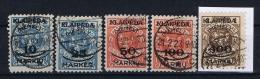 Germany: Memel, Mi Nr 124 - 128  Used 1923