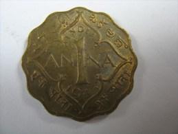 INDIA 1 ONE  ANNA 1943 - Inde