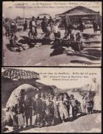2 X CPA TYPES DE MACEDOINE - DAMAGED CARDS WAR 1917 - Grèce