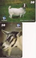2 Telecartes Brazil Telemar Bresil Chèvres Goat Caprinos Telemar - Brésil