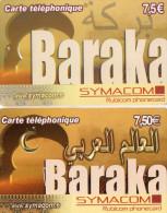 CARTES PREPAYEES  SYMACOM/RUBICOM  7,5e  Baraka  5190  (lot De 2) - France