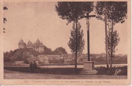 CPA Combourg - Vue Générale Du Château Et De L'Etang (2593) - Combourg
