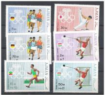 Olympische Spelen  1968 , Ajman - Reeks Postfris - Summer 1972: Munich