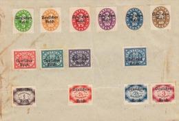 """Bayern 1920, Satzfrankierung Dienstmarken Mit Überdruck """"Deutsches Reich"""", Frankierung (5+10+15+20+30+40+50+60+7 0 ... - 1857-1916 Empire"""