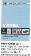 MICHEL Band 1 Europa Katalog 2014 Neu 62€ Mitteleuropa Mit Austria Schweiz UNO Genf CZ CSR Ungarn Liechtenstein Slowakei - Telefoonkaarten