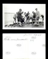 12917-photographie-34   Groupe  Scene De Vie   Peche A L'anguille 1935  Toussat    Photo Originale   B - Fotografie
