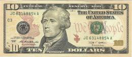 U.S.A. 10 DOLLARS 2009 PICK NEW UNC - National Currency