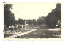 Cp, 88, Contrexéville, Le Parc Des Enfants, Voyagée 1933 - Vittel Contrexeville