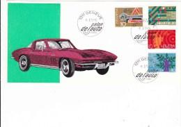 Chevrolet Corvette Carte Salon Auto Genève 1972 - Voitures