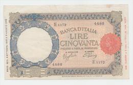Italy 50 Lire 1943 VF+ RARE P 66 - 50 Lire