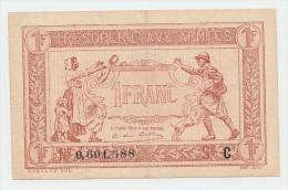 FRANCE 1 FRANC TRESORERIE AUX ARMEES 1917 VF++ P M2 - 1917-1919 Army Treasury