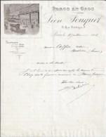 Facture Lettre 1906 FOUQUET Porcs En Gros - 3è - Paris - 1800 – 1899