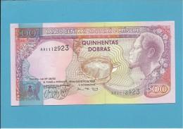 SAINT THOMAS & PRINCE - 500 DOBRAS - 26.08.1993 - UNC - P63 - REI AMADOR - Sao Tome And Principe