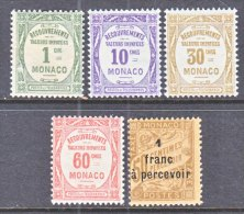 MONACO  J 21+  * - Postage Due