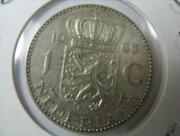 NETHERLANDS NEDERLAND HOLLAND 1  GULDEN 0.720 SILVER KM 184  1963  WEIGHT 6.5  GRAMS  COIN - [ 3] 1815-… : Reino De Países Bajos